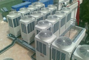 The project of installation and operation of central air conditioners for the rehabilitation of workshops and aircraft plants